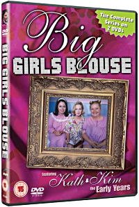 The cover of the DVD of the Australian TV series entitled Big Girl's Blouse