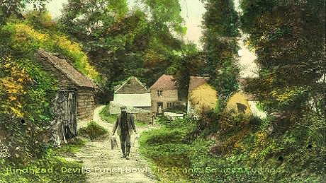 A broom-squire's cottage, c 1900.