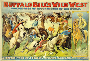 A poster for Buffalo Bill's Wild West show c1899
