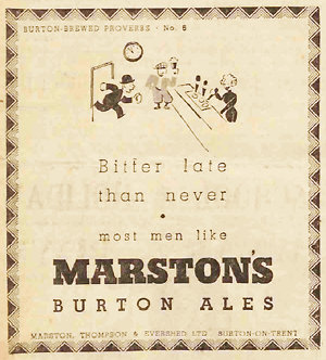 Advertisement for Burton Ales
