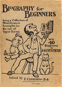 The cover of the first edition of Bentley's book of clerihews