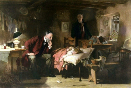The painting by Sir Luke Fildes