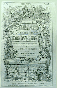 Cover of serialisation of Dombey and Son