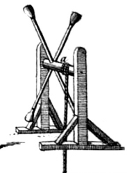 An illustration of an early dumbell machine