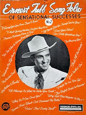 The cover of a sheet music collection by Ernest Tubb