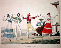 A French engraving of the fandango