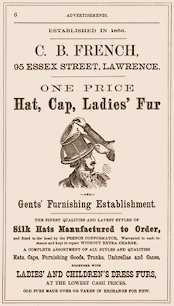 The advert by C B French