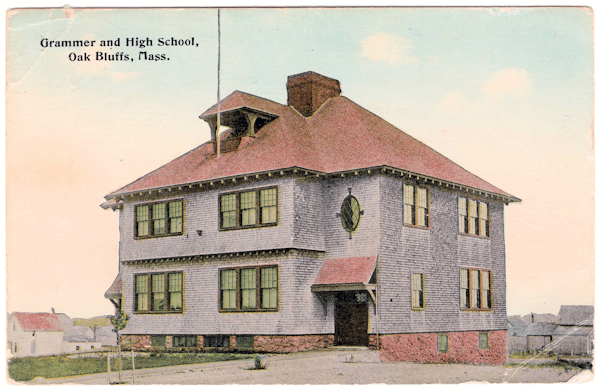 Picture postcard of school