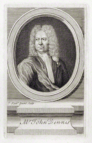 Line engraving of John Dennis