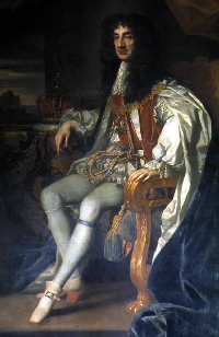 A full-length portrait of King Charles II of England