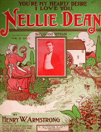 The original sheet music of the song Nellie Dean