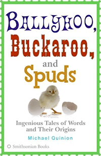 The cover of the US paperback edition of Ballyhoo, Buckaroo and Spuds