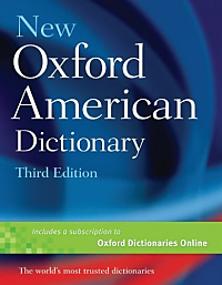 Cover of the 'New Oxford American Dictionary'