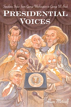 The cover of Presidential Voices