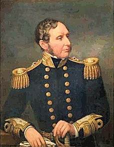 Portrait of Vice-Admiral Robert FitzRoy by Samuel Lane