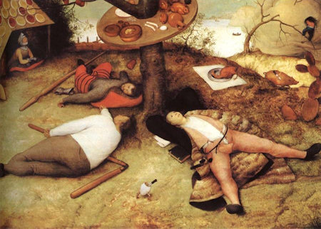 Schlaraffenland, by Pieter Bruegel the Elder