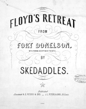 Sheet music by a person naming himself Skedaddles