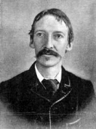 A photographic portrait of Robert Louis Stevenson.