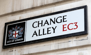 Change Alley street sign