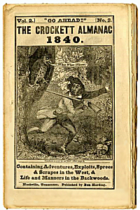 The cover of the almanac in which the word first appeared.
