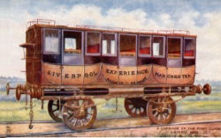 An early railway carriage