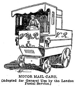 An early motor mail card
