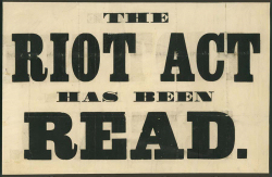 A Riot Act poster